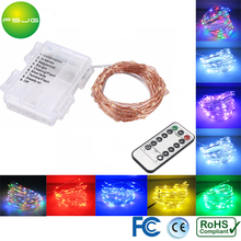 Battery Starry Led String Light 10M 100Led Copper Wire White Warm White Xmas Lights Waterproof room Controller Dimming 8Modes