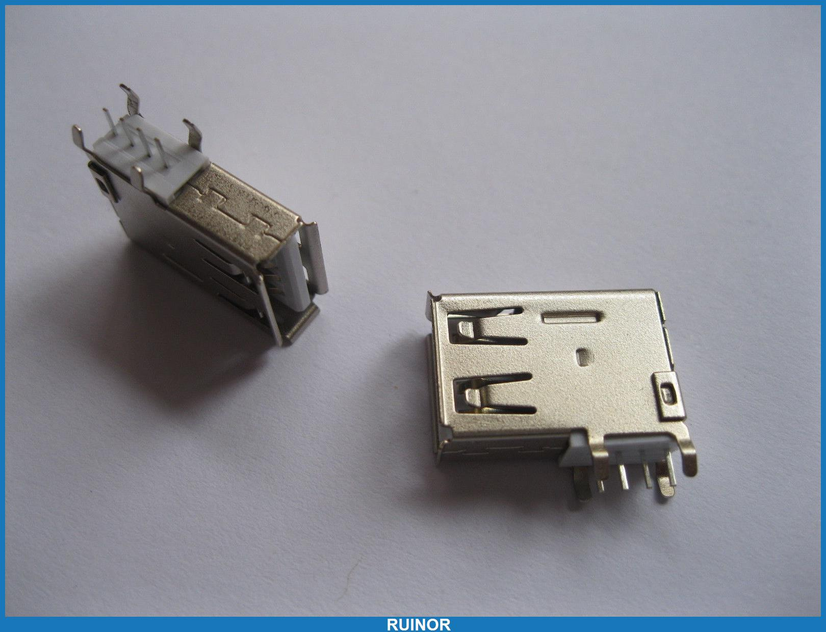 200 Pcs USB 4 Pin Female Connector Side AF DIP 90 Degree ASSY L<br><br>Aliexpress