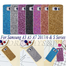 Cute For Samsung A3 A5 A7 2016 2017 Luxury Fashion Glitter Bling TPU Silicone Case For Samsung S8 Plus S5 S6 S7 edge Back Cover(China)