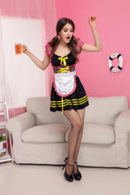 Buy 2015 New sexy underwear lovely Female Maid Beer girl classical Lace sexy miniskirt lolita maid outfit sexy costume sex products
