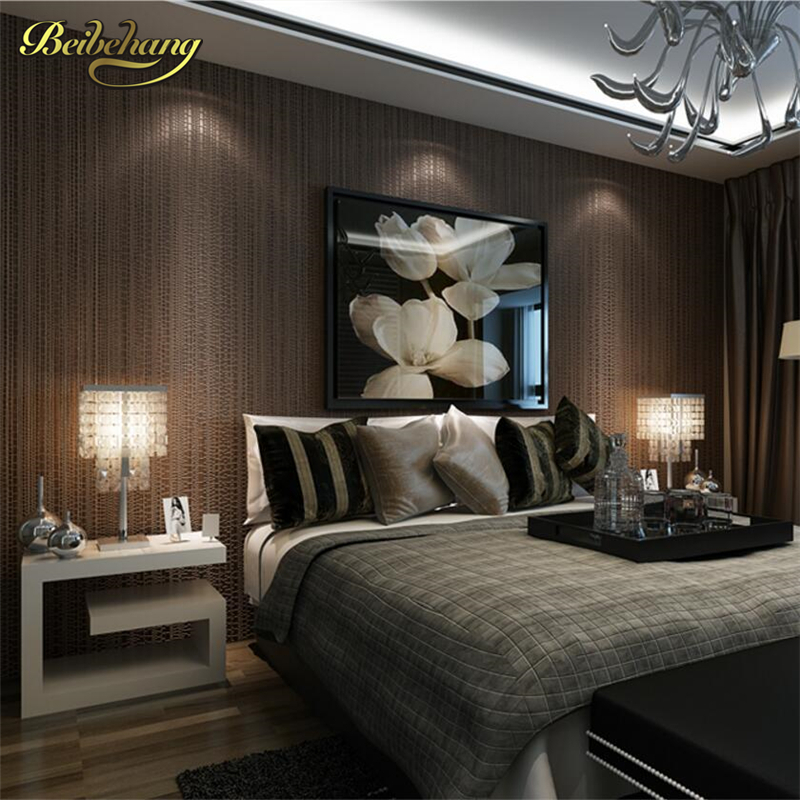 beibehang Flocking Nonwovens Wallpapers Living Room Bedroom Background Wallpaper Modern Simple Flax Cloth Plain Solid Wallpaper<br>