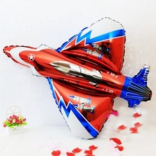 Oversized Fighter Model Foil Balloons kids Birthday Party wedding decoration Supplies Child Inflatable Helium Toys Gift aircraft(China)