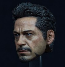 "Latest Style1/6 Scale Avengers Iron Man Tony Male Head sculpt Model Fit for 12"" Action Figure Men Bodies(China)"
