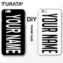 TURATA DIY Custom Name Coque Cover Case For iPhone 5 5S SE 7 8 6 6S Plus Samsung Galaxy S5 S7 S6 Edge Customized Photo Cases(China)