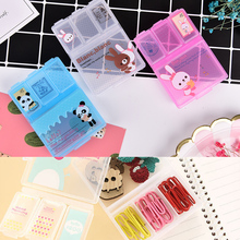 1Pcs Mini Cute Plastic Pill Box Medicine Case For Healthy Care Empty Drugs Box for Child Adult