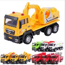 1:55 High simulation slide engineering vehicles, alloy garbage trucks, concrete trucks, dump trucks, toy vehicle,free shipping