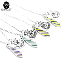 Hot movie jewelry HOGWARTS school badge Necklace tie pendents charm chain necklace gift fans choker Father's day gi - Elst71 Store store