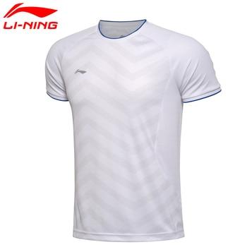 Li-Ning Man's Short Sleeve T-shirt Quick Dry Breathable Badminton shirt AAYM037 MTS1965
