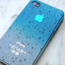 for iphone 4s Case 4 3D Water Drop Dripping clear hard crystal cover total 9 colors in stock, 1pc free shipping