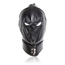 Buy 2017 Fetish PU Leather Sexy Mask,Bondage Hood Open Eyes & Mouth Zipper Cosplay Slave Mask,Adult Game Erotic Toys Couple