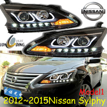 sylphy headlight,2012~2015,RHD and LHD,Free ship! sylphy fog light,2ps/set+2pcs Aozoom Ballast, sylphy,bluebird