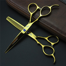 6 Inch Left Hand Hair Scissors Professional High Quality Hair Cutting Barber Left Handed Shears Sets Salon Equipment Tools