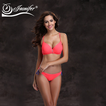 JAONIFER Women Bikini 2017 Push Up Swimwear Women Big Cup Beachwear Halter Bottom Bathing Suit Monokini Summer Bikini 2017