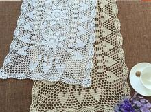 Chinese white cotton DIY bed table runners DIY luxury crochet lace doilies table cloth Rectangular tablecloth wedding decor