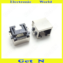 30pcs For Table Notebooks 8P8C RJ45 Network Connectors H=8.6 Sink Type RJ45 Network Interface Socket(China)