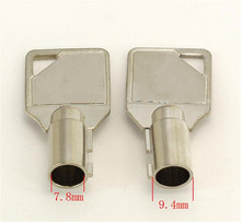 10Pcs 7.8mm Tubular Key Blank Locksmith Tools Accessories