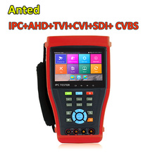 Handheld Onvif 4.3 inch SDI+IP+AHD+CVI+TVI Camera CCTV Tester Monitor HDMI IN H.265 4K IP Camera Video Security Tester(China)
