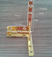 Small Quadrant Hinge Set for humidor boxes/ cigar Case Twentysomething hinge hinge jin 50pairs/lot(China)