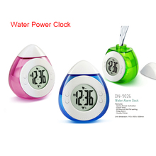 3 Colors High Quality Mini Digital Creative Smart Water Element Clock Magic Water Power Mute Alarm Clock With Calendar(China)