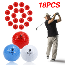 Brand Outdoor Sport 18*Golf Balls Golf Game Training Match Competition Rubber Three Layers High Grade Golf Ball Dropshipping!