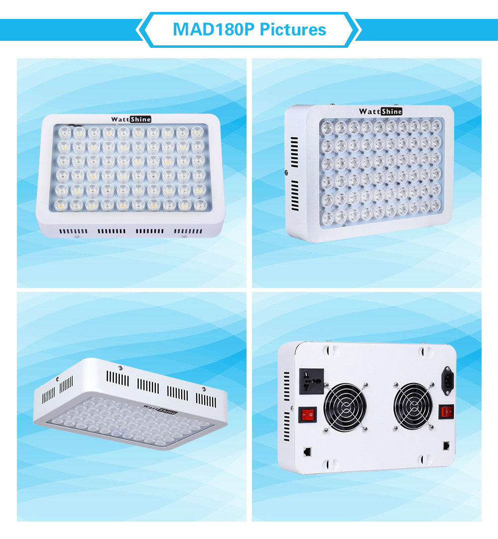 LED Aquarium Light 180W Series Dimmable Full Spectrum For Coral Reef Grow For Plants Fish Tank Aquarium Decorations Include (40)