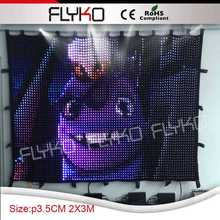 newest technology extreme light weight indoor full color led stage backdrop(China)