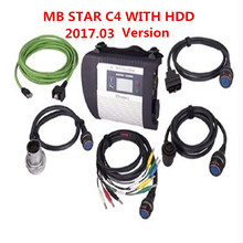 Top Quality MB STAR C4 Connect Full Set+2017.05 Win7 DAS HDD SD Compact C4 with WIFI Star diagnosis c4 software DHL Free
