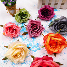 5pcs simulation technology of continental Rose Silk Flower Brooch wedding decorations decorative flower shooting props arches