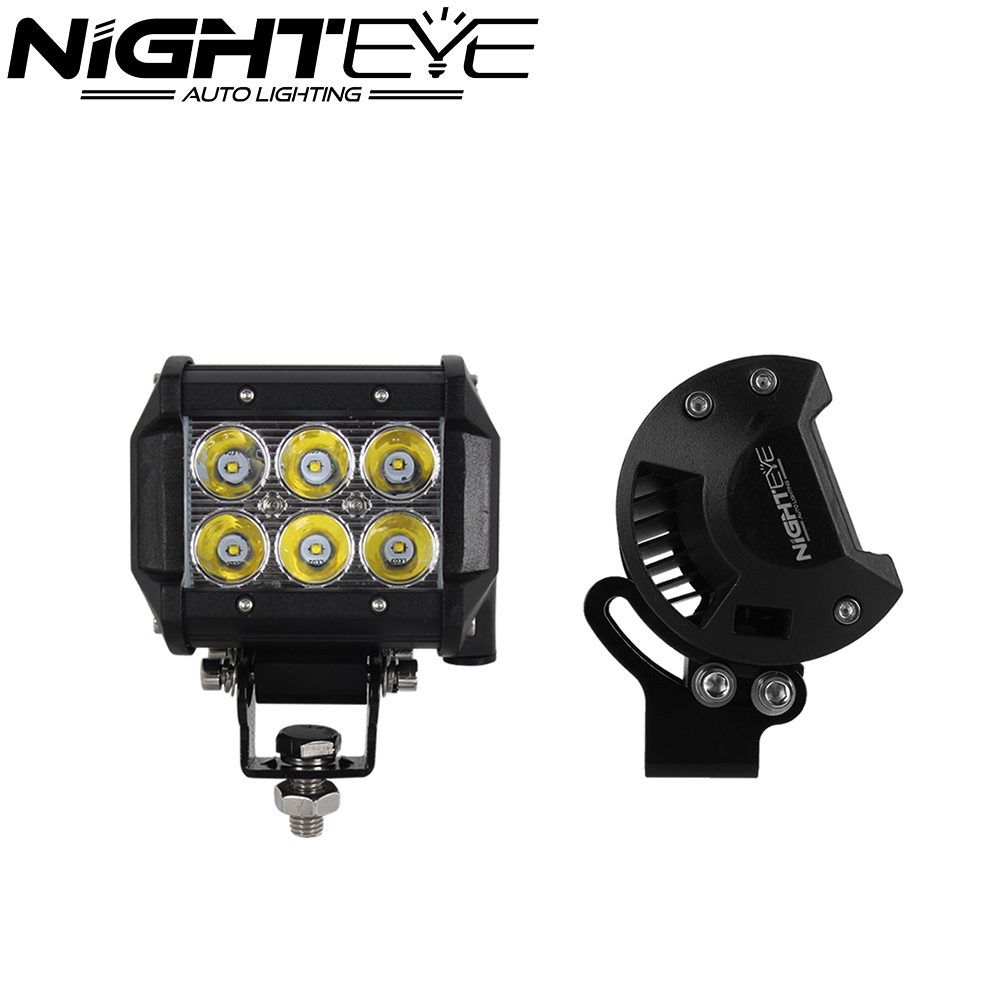 1pc 4inch with CREE 18W Auto LED Work Light Bar Spot Beam for Jeep Offroad Driving Fog Lamp Daytime Running Light DRL SUV 4WD<br><br>Aliexpress
