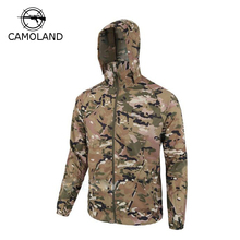 Summer Tactical Skin Jacket Waterproof Breathable Men Outwear UPF 50+ Hooded Raincoat Army Military Jacket Thin Camouflage(China)