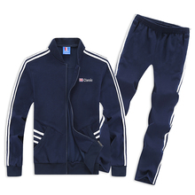 6XL 7XL 8XL Men's Tracksuit Cotton Casual Sportswear Sport Suit Men Hoodies Set Jacket+Pants Fashion Sweatshirts Male SP9881