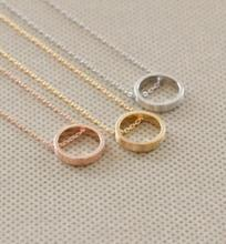 Collier Maxi Necklace Collares Circle Round 2016 Hot New Design Fashion Simple Dainty Open Outline Eternity Jewelry Best Gift(China)