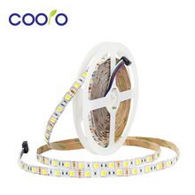 LED strip 5050 color temperature adjustable CW+WW Double color,60LEDs/m,5m/roll DC12V,High quality strip(China)