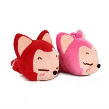 Candice guo! Hot sale plush toy cute doll ali cushion papa pillow stuffed toy home decoration red/pink 25cm 2pcs/lot(China)