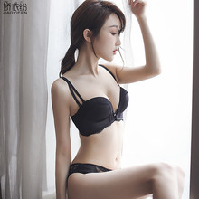 Buy JYF Brand Fashion sexy girl bra set seamless solid push women underwear set adjusted lace lingerie wire free bra brief sets