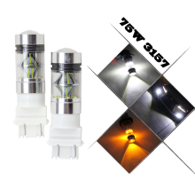 2pcs 75W High Power 3056 3156 3157 4157 LED Bulbs for Turn Signal Amber Yellow P27/7W brake Lights Car Light Source parking 12V