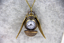 Fashion Jewelry Vintage Charm HP Snitch Wings Quartz Pocket Watch Necklace For Men And Women(China)