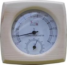 Sauna Room Thermometer Hygrometer with a Wood Case