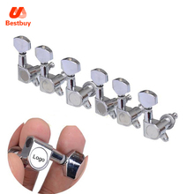 6R Chrome Guitar Tuning Pegs Tuner Machine Heads Stratocaster Telecaster Guitar Parts with  LOGO
