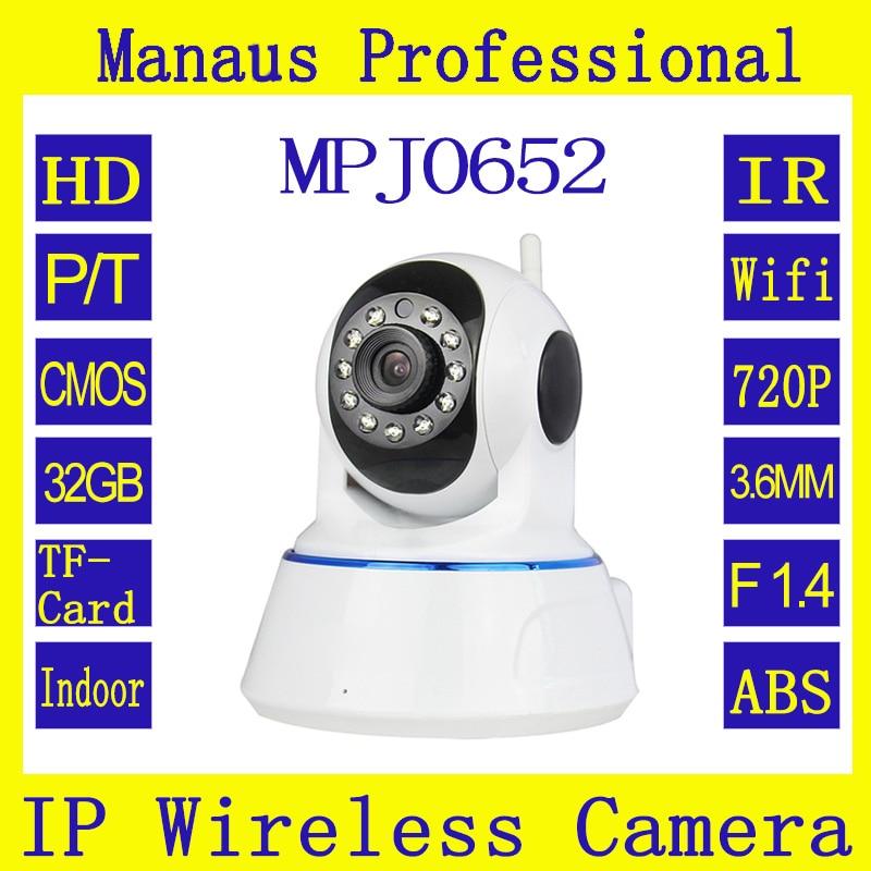 High Quality 720P HD WIFI Dual IR-CUT Filter Auto Switch 3.6mm IP Camera Built in speaker CMOS Sensor support AWB, AGC, BLC J652<br><br>Aliexpress