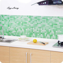 Wall Sticker Kitchen 1 PC Bathroom Toilet Waterproof Self-Adhesive Stickers Mosaic Tile Wallpaper Removable Wholesale D28(China)