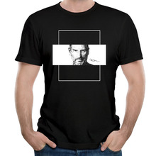 Man Steve Jobs computer revolution Apple Round Neck man T shirt O Neck Cotton Fashion printed t shirts for man(China)