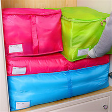 Storage Bag Clothes Quilt Bedding Duvet Zipped Handles Laundry Pillows Storage Box Sorting Pouch Underwear Socks Organizer