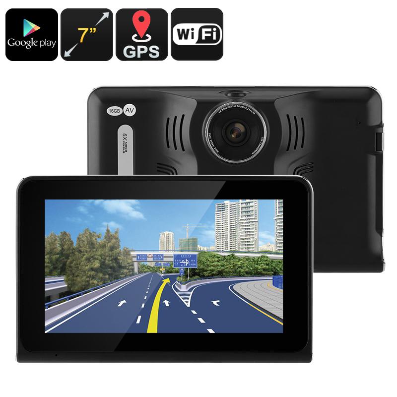 Car DVR Dash Cam - Anti-Radar Detector, GPS Navigation, Android OS, Quad-Core CPU, 7 Inch Display, WiFi, 1_2.5 Inch CMOS20170621_0145