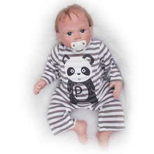 Buy Realistic Ethnic Reborn Baby 55 cm Soft Silicone Baby Dolls Magnetic Pacifier Looks Truly 20'' bebe Boy Toy Gifts