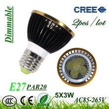 2X Dimmable E27 / GU10 / GU5.3 / E14 Par20 9W 12W 15W AC85-265V High Power Led Light Bulbs LED Lamp Spotlight Good quality(China)
