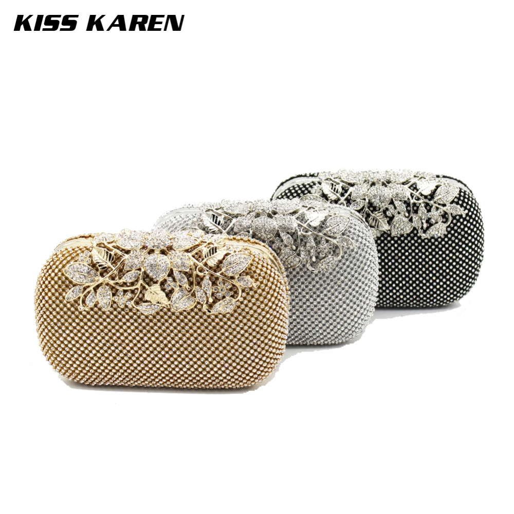 Kiss Karen Noble Leaves Fashion Diamonds Trendy Womens Clutches Evening Bag Women Party Clutch Bag Club Elegant Lady Minaudiere<br><br>Aliexpress