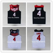 #4 Stephen Curry 2014 Dream Team USA Basketball Jersey Stitched All Size(China)