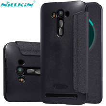 For Asus Zenfone 2 Laser ZE550KL Cover 5.5'' ZE551KL Leather Case NILLKIN Quality Hard PC Back Cover Flip Smart Sleep Phone Case(China)