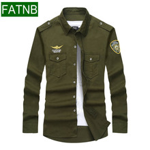 Buy Military Men Shirts New 2017 Brand 100% Cotton Long Sleeve Military mens shirt aeronautica militare Casual clothing for $21.83 in AliExpress store